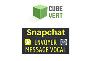 Lecture message vocal Snapchat